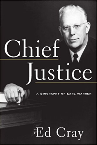 book cover of Chief Justice Earl Warren's biography